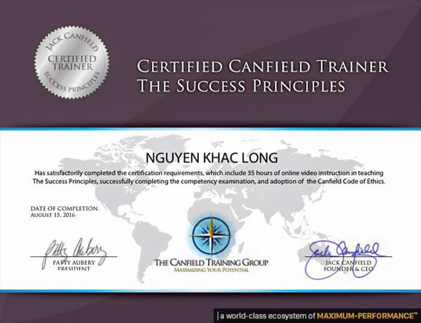 Mega Guru Jack Canfield Cerfied Trainer Certification Nguyen Khac Long OlymWorld Performance Nang Luc